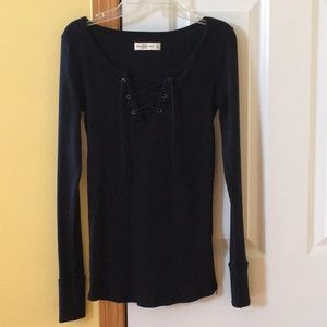 Abercrombie & Fitch lace-up longsleeve